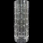 Tiffany & Co. Modern Crystal Vase Tartan Plaid - 20th Century, USA