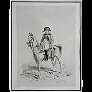 SOLD Napoleon I on White Horse inscribed L. Rouet d'apres Meissonier Napoleon I in 1814 - c. 1