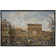 The Italian Campaigns Engraving Entrée des Français dans Milan after Vernet - c. 19th Centur