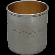 Tiffany Sterling Siver Cann / Mug / Handled Cup .- 1929, USA