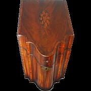 Georgian Period Large Knife / Cutlery Box Hard Wood - circa 1770-1810, England