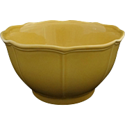 French Provincial Pierre Deux Large Yellow Ochre Pottery Serving Bowl - 20th Century, Portugal