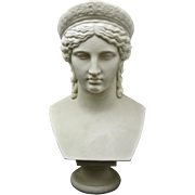 Copeland Parian Bust of Juno after Malempre Signed - 1865 or later, England