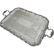 """Excellent Gorham 22"""" Handled Tray Silver Plate - 20th Century, USA"""