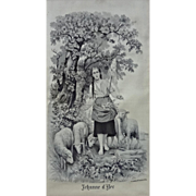 Joan of Arc Silk Jacquard Picture / Silk Tapestry Neyret Freres after Fernand Lematte - Early