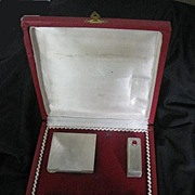 Purse Vanity Set 800 Silver