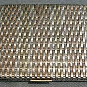 Sterling Silver Tri Color Cigarette Case
