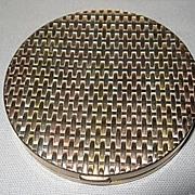 Sterling Silver Tri Color Compact Mirror