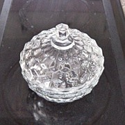 SOLD American Clear Whitehall Covered Candy Dish - Red Tag Sale Item