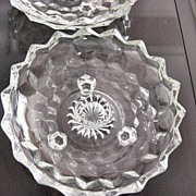 American Whitehall By Indiana Glass Single Candle 3 Footed Candle Holders