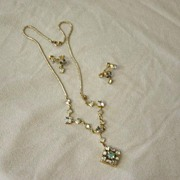 SALE CM 12 Karat Gold Filled Necklace And Earrings