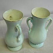 Royal Copley Gold Trimmed Handled Vases