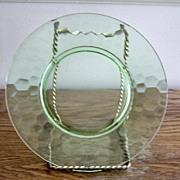 Green Honeycomb Pattern Salad Plates