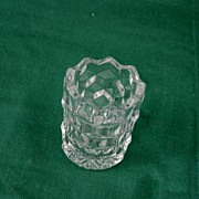 American Clear Fostoria Tooth Pick Holder