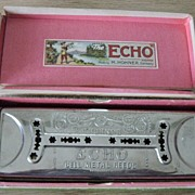 Antique Echo French Harp By M. Horner Of Germany