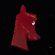 SALE J.L. Shultz Red Pony Horse Head