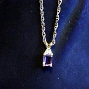 Light Lavender Baguette Open Back Necklace