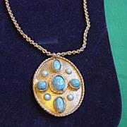 SALE Vintage HOB'E Patent # Drop Pendent Necklace