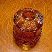 Amber Fenton Fairy Lamp