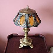 Vintage Art Glass Table Lamp
