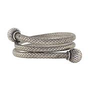 Victorian Sterling Silver Flexible Weaved Coil Bracelet