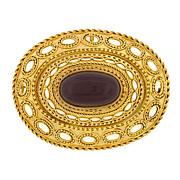 Victorian 14kt Gold Etruscan & Garnet Pin/Pendant