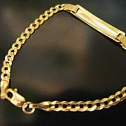 SOLD Child / Baby Estate 10k Gold ID Bracelet