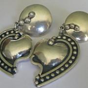 Brenda Schoenfeld Taxco Sterling Silver Earrings (clip-on)