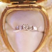 SALE Platinum Diamond Engagement Ring