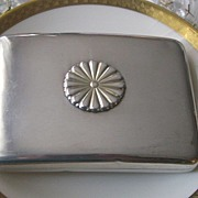 SOLD 950 Sterling Silver Art Deco Card/Cigarette Case