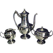 REDUCED Antique Willcox Sterling Silver Tea Service