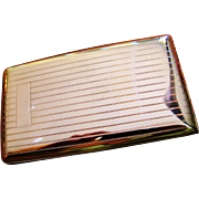 Large ELGIN Vintage Sterling Silver Cigarette/Card Case