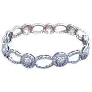 Diamond link 18K White Gold Bracelet