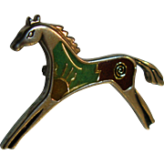 Sterling Silver Carolyn Pollack Vintage Pony Pin