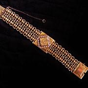 SOLD Retro Vintage 14K Yellow Gold & Diamond Hidden Watch Bracelet