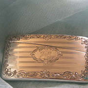 "Antique Sterling Silver Calling Card Case  ""J D G"" monogram"