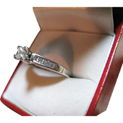 REDUCED White Gold Diamond Engagement Ring