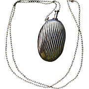 Sterling Silver Perfume Pendant Necklace Flacon