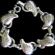 Danecraft Leaf Link Sterling Silver Bracelet