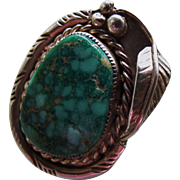 SALE Vintage Sterling Silver Turquoise Ring