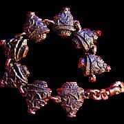 SOLD Vintage Sterling Silver Christmas Tree Bracelet