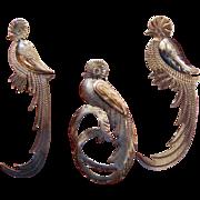 SALE Set of 3 Guatemala Quetzal Bird Pins
