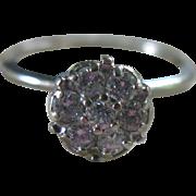 Diamond Flower Ring 10K White Gold