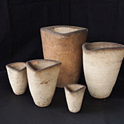 Brick  Pottery Clay Pots- Artist signed