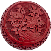 SOLD Cinnabar Trinket Box