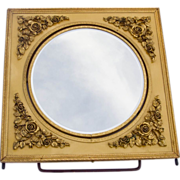 SALE Rose Filigree Embossed Flip Vanity Mirror