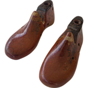 Pair Vintage Child's Wooden Shoe Lasts