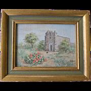 SOLD Small Oil Painting, La Bahia Mission, Texas