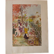 SOLD Mary Petty Print, Summer Picnic, 1962