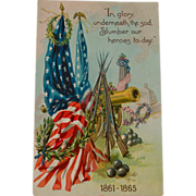 SALE Tuck's Civil War Memorial Postcard
